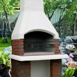 уличная печь для сада из кирпича