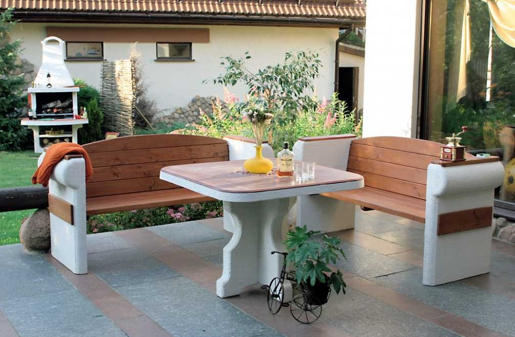 Картинки по запросу садовая мебель с мангалом