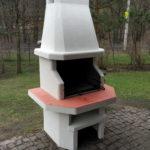 готовая печь барбекю из бетона