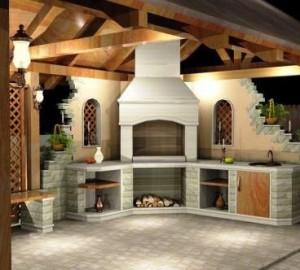3-d визуализация проекта летней кухни