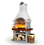 печь гриль мангал для дачи уличного типа