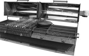 Профессиональная жаровня мангала для приготовления большого количества блюд