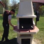 садовая печь барбекю купить