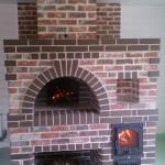 кирпичная печь в русском стиле в доме