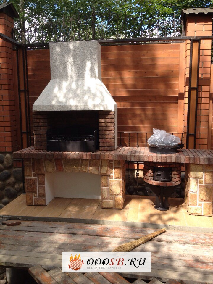 Садовая печь с казаном и коптильней – стильная, красивая и многофункциональная печь для сада!