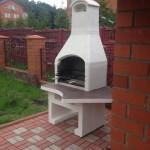 готовая бетонная барбекю печь для дачи