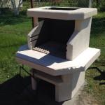 бетонная барбекюшница для садового участка