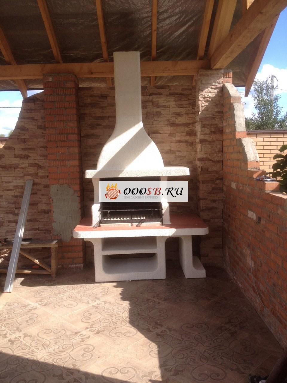 готовая дачная печь барбекю для сада или улица на дровах