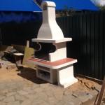 садовый уличный камин для дачи для сада