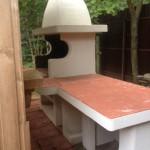 садовый уличный гриль камин для дачи