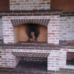 стационрная большая печь барбекю
