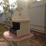 жаровня для шашлыка на улице из бетона