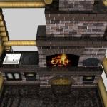 проект барбекюшницы с казаном, русской печью и мангалом