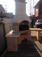 угловая модель готовой барбекю печи из модулей