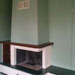 фото установки камина в доме