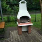 дачная барбекю печь из кирпича