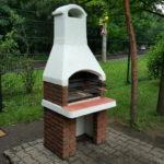 кирпичная барбекю печка на даче