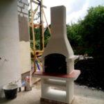 недорогая готовая барбекю печь из бетона