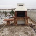 модульная готовая бетонная барбекюшница