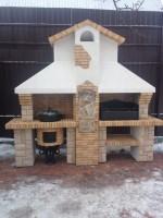 печной барбекю комплекс с казаном, мангалом и коптильней