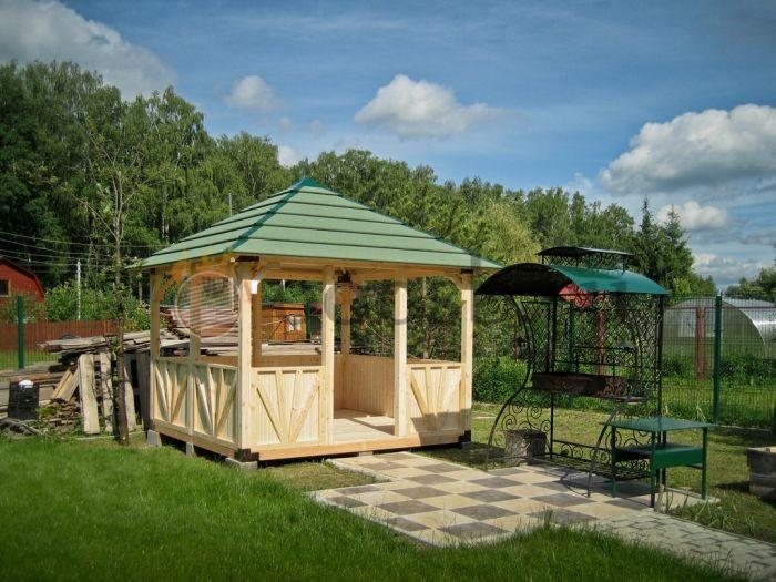 Особенности садовых беседок из деревянного бруса