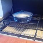 готовые печи барбекю с казаном и грилем