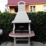 печка барбекю на дачном участке