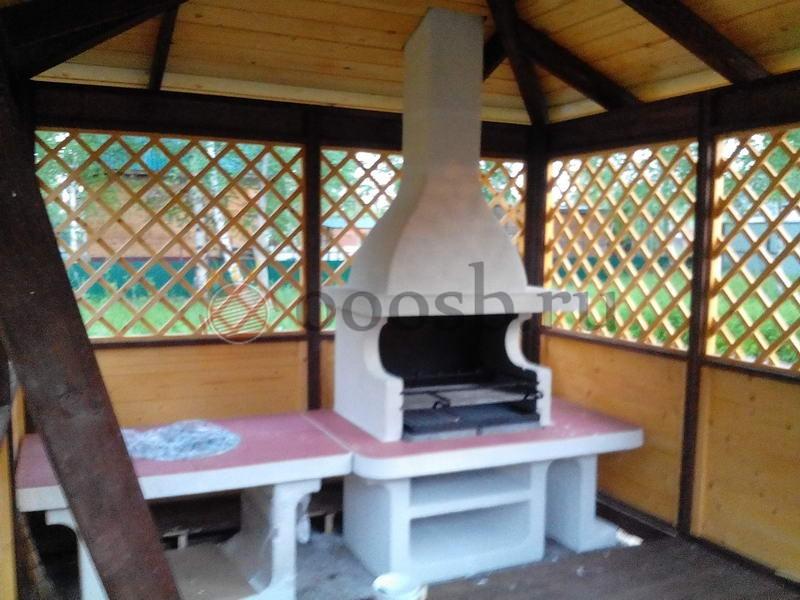 Печь-барбекю апрелевка барбекю из вулканического камня и столешницы