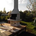 установка барбекю печи на даче