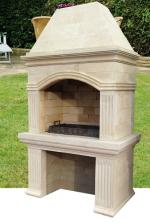 готовая дачная садовая барбекюшница из натурального камня