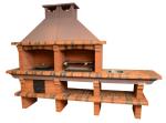 Красивая печь барбекю для установки на даче