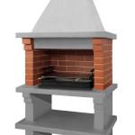 сборная готовая бетонная печка барбекю для шашлыка
