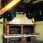 легкая и красивая печка на даче