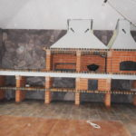 барбекю комплекс из кирпича с русской печью казаном и мангалом