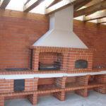 казан мангал и помпейская печь в едином комплексе