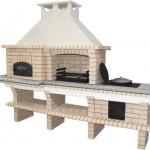 печной барбекю комплекс с казаном, русской печью и мангалом