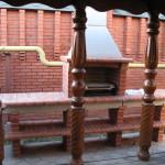 кирпичный готовый мангал на даче