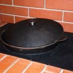 плита под казан в барбекю печи из кирпича