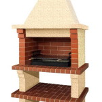 дачная барбекю печка из кирпича и бетона