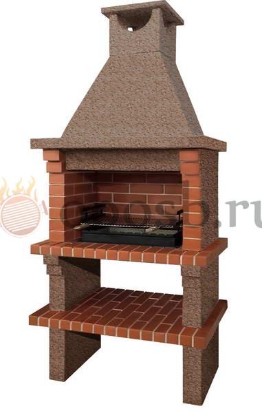 готовая барбекю печь из кирпича и бетона