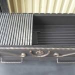 мангал жаровня из стали с зольным ящиком