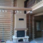 Пример установки камина в деревянном доме