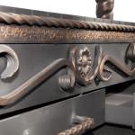Бронзовая патина на мангале с зольными ящиками