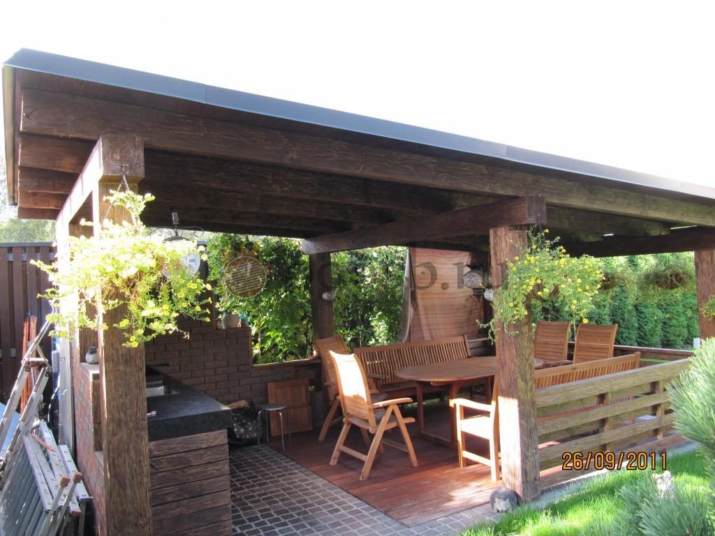 Уютный отдых в садовой беседке с мангалом или барбекю