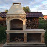 Печь барбекю из натурального камня