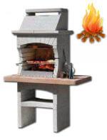 Красивая недорогая барбекю печь на дровах