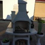 Печь барбекю Мечта с цветочными вазами
