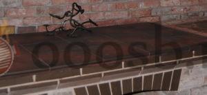 Столешница из керамогранита для барбекю