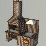 мангал на даче из кирпича