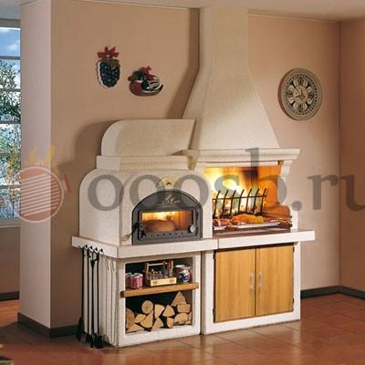 садовая барбекю русская печь с мангалом